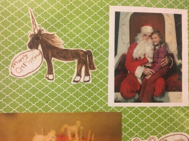 More Christmas unicorns-and me with Santa!